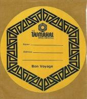 Etiquette De Bagage Autoadhésive - THE TAJMAHAL INTER-CONTINENTAL (INDE) - Etiketten Van Hotels