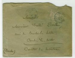 INDOCHINE LETTRE DE CHAUDOC COCHINCHINE TRANSIT SAIGON CENTRAL POUR LA FRANCE - Indochina (1889-1945)