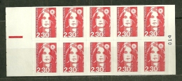 "France** ;  Carnet ;  Y&T  N°  2630-C1   "" Marianne De Briat "" - Carnets"
