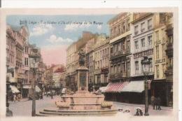 LIEGE RUE VINAVE D'ILE ET FONTAINE DE LA VIERGE - Luik