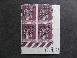 Bloc De 4 Coin Daté 1933 Du PO N° 73, Neuf  . - Esquina Con Fecha