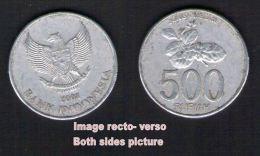 Pièce De Monnaie Coin Moeda 500 Rupiah Fleur Bunga Melati Indonesia Indonésie 2003 - Emirats Arabes Unis