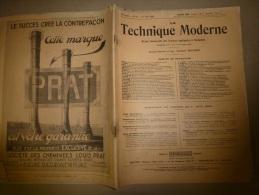 1er Juin 1929  LA TECHNIQUE MODERNE  Et : L´ ORGANISATION Du TRAVAIL ; Chemins De Fer.......etc........ - Livres, BD, Revues
