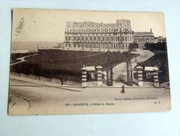 Carte Postale Ancienne : BIARRITZ : L'Hotel Du Palais En 1918 - Biarritz