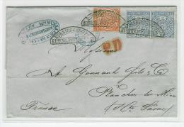 2 Gr X 2 + 1/2 Gr   LETTRE DE KOENIGSBERG EISENB  POUR PLANCHER LES MINES HAUTE SAONE FRANCE  BRIEF - Norddeutscher Postbezirk