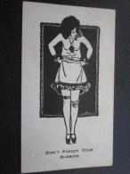Business Card Carte De Visite Originale :SOUND DRUG Co. Illustration Pin-up-PIN UP -Don´t Forget Your Rubbert VOIR VERSO - Visiting Cards