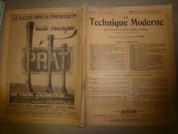 1er Avril 1929  LA TECHNIQUE MODERNE  Et :Signalisation De L´église Genesareth à BERLIN-TEMPELHOF; Locotracteur De PLM - Livres, BD, Revues