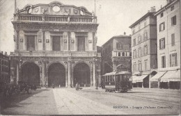 Cp Italie BRESCIA Loggia  ( Ligne De Chemin De Fer Tramway électrique Trolay Commerce Attelage ) - Brescia