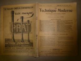 1er Novembre 1929  LA TECHNIQUE MODERNE  Et : Une Locomotive De Madagascar;L'usine De WALCHENSEE; Dispositif De Décharg - 1900 - 1949