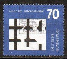 GERMANY 1974 Amnesty International Commemoration - 70pf Broken Bars Of Prison Window  FU - Usados