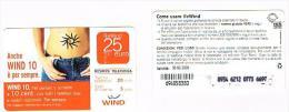 ITALIA  WIND - C&C (11^ ED) 2360 BIS (NON CATALOGATA) - WIND 10 25 SC. 30-06-2009 (PC, DATA ATTACCATA) USATA - RIF CP - Italie