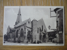 CPA ANIMEE ST AMAND MONTROND - L´EGLISE- - Saint-Amand-Montrond