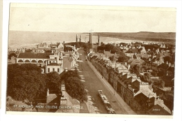 Vintage Scotland St Andrews View From College Church Tower Ppc Unused - Fife
