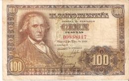 BILLETE DE ESPAÑA DE 100 PTAS DEL 2/05/1948 SERIE D CALIDAD   BC  (BANKNOTE) - [ 3] 1936-1975 : Régimen De Franco