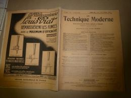 1er Février 1929  LA TECHNIQUE MODERNE  Et : Machines à Vapeur; A La Gare Saint-Lazare;Piccadilly-Circus Métro (Londres) - Livres, BD, Revues