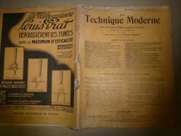 1-7-1928  LA TECHNIQUE MODERNE  Et :Chemins De Fer;La Rupture Du Barrage De San-Francis En Californie; Les Dirigeables; - Livres, BD, Revues