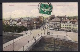 BELFORT, VISTA DE LA CIUDAD, PUENTES, CIRCULADA EN 1909 - Belfort - Ciudad