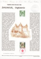 """Document Officiel De 1995 N° 21 95 510 """" CROIX-ROUGE 1995 : TAPISSERIE DE SAUMUR """" N° YT 2946 + Prix Dégressif ! DPO"""