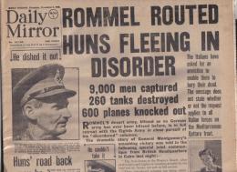 RARE ORIGINAL DAILY MIRROR ORIGINAL  FULL NEWS PAPER THURSDAY NOVEMBER 5 1942 - Geschiedenis