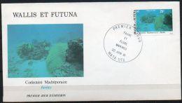 Wallis Et Futuna 1981 267 FDC  - Faune Et Flore Pélagiques - Milieu Marin - Coelentéré Madréporaire - Favites - Corail - FDC