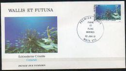 Wallis Et Futuna 1981 272 FDC  - Faune Et Flore Pélagiques - Milieu Marin - Échinoderme Crinoïde - Comatule - FDC