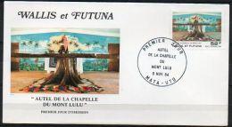 Wallis Et Futuna 1984 PA 141 FDC - Autel De La Chapelle Du Mont Lulu - FDC