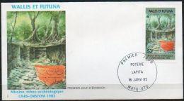 Wallis Et Futuna 1985 322 FDC - Mission Ethno-archéologique CNRSS-ORSTOM - Fouille Et Poterie Lapita - FDC