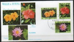 Wallis Et Futuna 1991 420-22 FDC - Flore Wallisienne - Fleurs - Monette - Hibiscus - Nénuphar - FDC