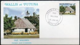 Wallis Et Futuna 1983 302 FDC - Habitat - Falé Wallisien - Maison Traditionnelle Wallisienne - FDC