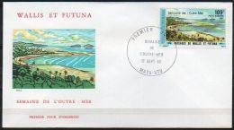 Wallis Et Futuna 1982 PA 118 FDC - Semaine De L´Outre-Mer - Paysages De Wallis Et Futuna - FDC