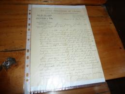 Facture Lettre Commerciale  Grandes Pepinieres Du Centre Vigne OLIVIER Fils Bourges Cher Viticulteur - 1900 – 1949