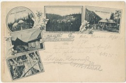 Hungary Now Romania 1898 Litho Postcard Hohe Rinne Paltinis Undivided Multiview - Roumanie