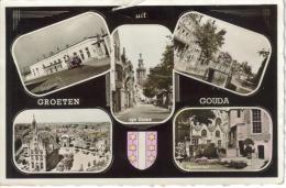 CPSM GOUDA (Pays Bas-Zuid Holland) - Groeten Uit S´Gouda : 5 Vues - Gouda
