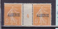 ALGERIE  N° 7 5C ORANGE TYPE SEMEUSE CAMEE MILLESIME 1924 GRIFFE BESNARD NEUF SANS CHARNIERE - Algeria (1924-1962)
