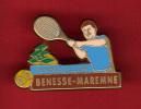 29200-Pin´s Tennis.Benesse-Maremne..signé Arthus Bertrand Paris - Arthus Bertrand