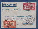 INDOCHINE - 1936 - ENVELOPPE ENTIER POSTAL POSTE AERIENNE De HAI-PHONG (TONKIN) Pour PANTIN - ACEP N°EN3 - Indochine (1889-1945)