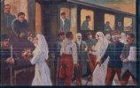 Croix Rouge, Passage En Suisse Des Grands Blessés Français 1915 (4507) - Croix-Rouge