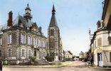 CPSM  -    ETREPAGNY  (27)   Place De L´ Hotel De Ville  ( Boucherie  Garin Ou Gorin ) - France