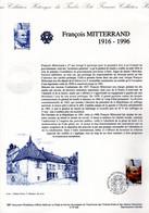 """Document Officiel DPO De 1997 N° 21 97 526 """" FRANCOIS MITTERRAND """" N° YT 3042."""
