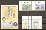 SCOUTS - GHANA 1991 - Yvert #1210/13+H169 - MNH ** - Movimiento Scout