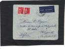 Lettre Par Avion Paris 1936 Pour Philippeville Algèrie  Verso Manuscrit Du Controle Nice ? - Cartas