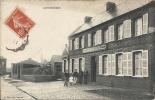 CATTENIERES : Restaurant De La Gare - TRES RARE CPA - Cachet De La Poste 1910 - France