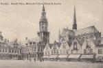 CPA VEURNE- GRAND PLACE, HOTEL DE VILLE ET PALAIS DE JUSTICE - België