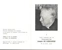 Doodsprentje Pastoor Joseph De Visschere - Brugge - Kortrijk - Moorslede - Blankenberge - Oostende Sijsele 1894 - 1983 - Obituary Notices