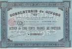 ACTION DE 500 FRANCS -GOBELETERIE DE GIVORS -RHONE - - Actions & Titres