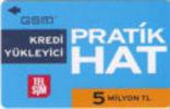 Turkey - TELSIM - GSM-Aufladekarte - Serie:Pratik Hat 5 TL - Used - Look Scans - Turchia