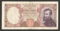ITALIA - 10000 Lire MICHELANGELO (Firme: Carli / Lombardo - Decr. 08/06/1970) - [ 2] 1946-… : Repubblica