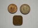 PIECE - SURINAM - LOT DE 3 PIECES - 1 CENT (1970), 25 CENTS (1962), 5 CENTS (1966) - Surinam 1975 - ...