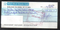 MALTA - MID - MED BANK   LIMITED CHECK 1990s - VERY INTERESTING - - Cheques & Traveler's Cheques
