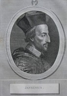Portrait De Jansenius - Gravure Sur Cuivre De 1788 - Grand Format - FRANCO DE PORT - Stiche & Gravuren